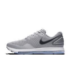 Мужские беговые кроссовки Nike Zoom All Out Low 2Мужские беговые кроссовки Nike Zoom All Out Low 2 с одной из самых эффективных технологий Nike для мгновенной амортизации созданы для пробежек на самой высокой скорости. Легкая поддерживающая конструкция обеспечивает комфорт. Благодаря минималистичному дизайну кроссовки подходят не только для бега, но и для повседневной жизни.  НЕПРЕВЗОЙДЕННАЯ АМОРТИЗАЦИЯ  Система Zoom Air во всю длину стопы создает превосходную мгновенную амортизацию. Вставка Zoom Air быстро принимает исходную форму, возвращая энергию при каждом шаге. Чем быстрее ты бежишь, тем больше возврат энергии.  ЛЕГКОСТЬ И НАДЕЖНАЯ ПОДДЕРЖКА  Легкая сетка по всей поверхности обеспечивает циркуляцию воздуха. Жесткая конструкция пятки стабилизирует стопу.  СЦЕПЛЕНИЕ И ГИБКОСТЬ  Резиновая подметка с вафельным рисунком и защитным барьером Crashrail обеспечивает гибкость и сцепление. Барьер Crashrail — это резиновая полоса с небольшими надрезами сбоку, которая позволяет стопе двигаться естественно.<br>