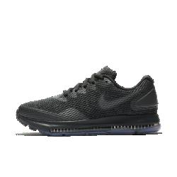 Женские беговые кроссовки Nike Zoom All Out Low 2Женские беговые кроссовки Nike Zoom All Out Low 2 с одной из самых эффективных технологий Nike для мгновенной амортизации созданы для пробежек на самой высокой скорости. Легкая поддерживающая конструкция обеспечивает комфорт. Благодаря минималистичному дизайну кроссовки подходят не только для бега, но и для повседневной жизни.  НЕПРЕВЗОЙДЕННАЯ АМОРТИЗАЦИЯ  Вставка Zoom Air длиной 3/4 создает превосходную мгновенную амортизацию. Вставка Zoom Air быстро принимает исходную форму, возвращая энергию при каждом шаге. Чем быстрее тыбежишь, тем больше возврат энергии.  ЛЕГКОСТЬ И НАДЕЖНАЯ ПОДДЕРЖКА  Легкая сетка по всей поверхности обеспечивает циркуляцию воздуха. Жесткая конструкция пятки стабилизирует стопу.  СЦЕПЛЕНИЕ И ГИБКОСТЬ  Резиновая подметка с вафельным рисунком и защитным барьером Crashrail обеспечивает гибкость и сцепление. Барьер Crashrail — это резиновая полоса с небольшими надрезами сбоку, которая позволяет стопе двигаться естественно.<br>