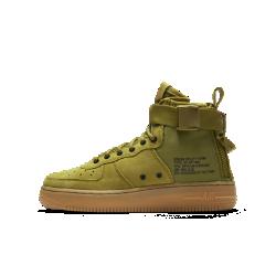 Кроссовки для школьников Nike SF Air Force 1 MidДизайн кроссовок для школьников Nike SF Air Force 1 Mid вдохновлен конструкцией ботинок Nike Special Field. Они обеспечивают надежную поддержку, амортизацию и комфорт уровня функциональной обуви для военнослужащих.<br>