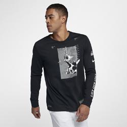Мужская баскетбольная футболка с длинным рукавом Nike Dri-FITМужская баскетбольная футболка с длинным рукавом Nike Dri-FIT из влагоотводящей ткани обеспечивает комфорт.<br>