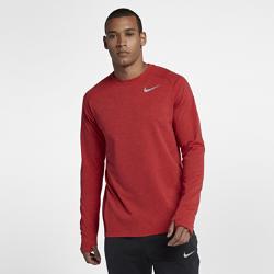 Мужская беговая футболка с длинным рукавом Nike Therma Sphere ElementМужская беговая футболка с длинным рукавом Nike Therma Sphere Element из термоткани с разрезами на молнии обеспечивает комфортное сочетание тепла и вентиляции.<br>