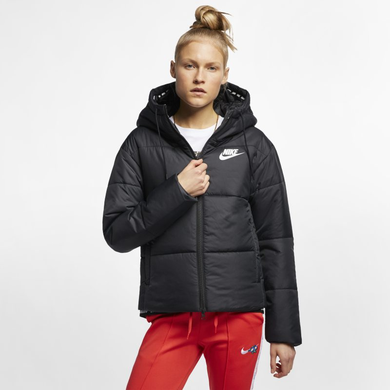 new style 152f4 060a6 Nike Sportswear Synthetic-Fill Women s Hooded Jacket - Black Image