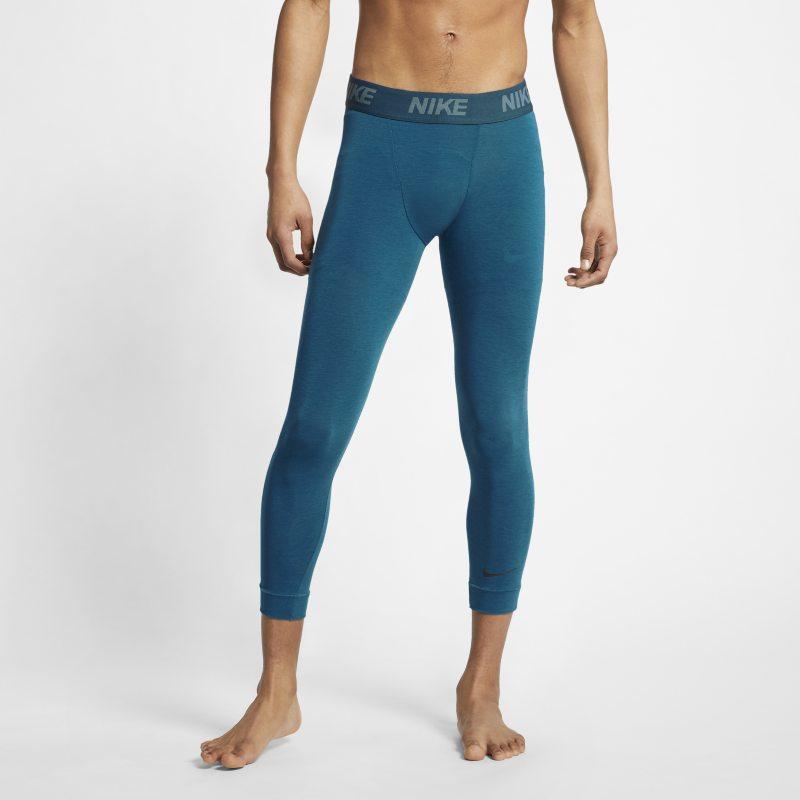 Nike Dri-FIT Mallas de entrenamiento de yoga de 3/4 - Hombre - Azul