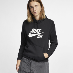 <ナイキ(NIKE)公式ストア>ナイキ SB アイコン メンズ プルオーバー スケートボードパーカー AJ9734-010 ブラック ★30日間返品無料 / Nike+メンバー送料無料!画像