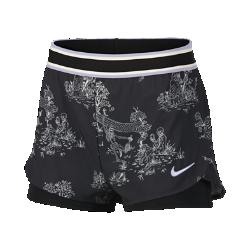 <ナイキ(NIKE)公式ストア>ナイキコート フレックス ウィメンズ プリンテッド テニスショートパンツ AO0347-010 ブラック ★30日間返品無料 / Nike+メンバー送料無料!画像