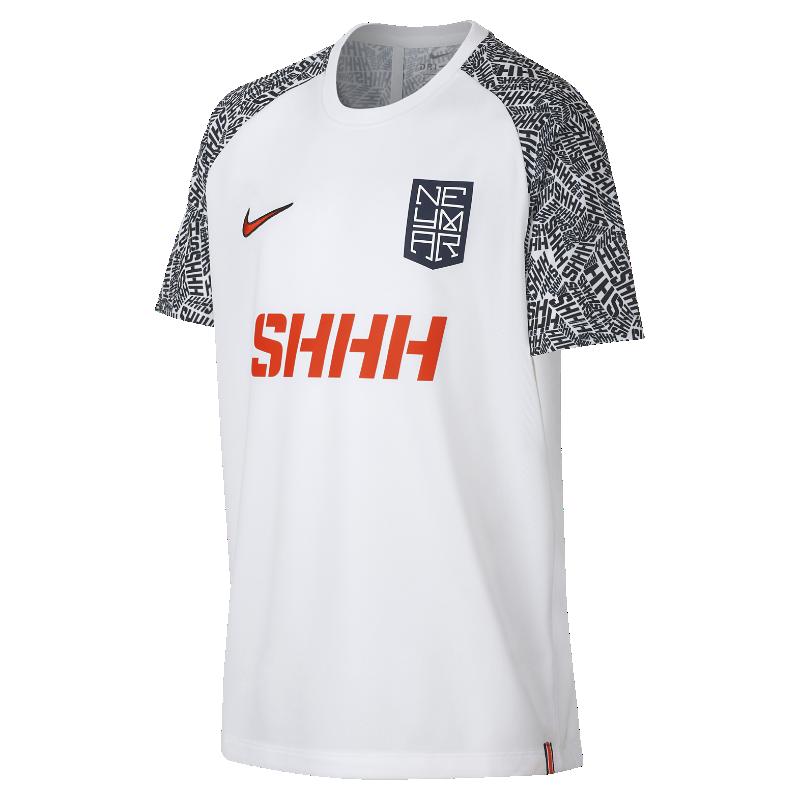 <ナイキ(NIKE)公式ストア>ナイキ Dri-FIT ネイマール ジュニア ショートスリーブ サッカートップ AO0743-100 ホワイト