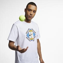 <ナイキ(NIKE)公式ストア>ナイキコート メンズ グラフィック テニス Tシャツ AO1139-100 ホワイト画像