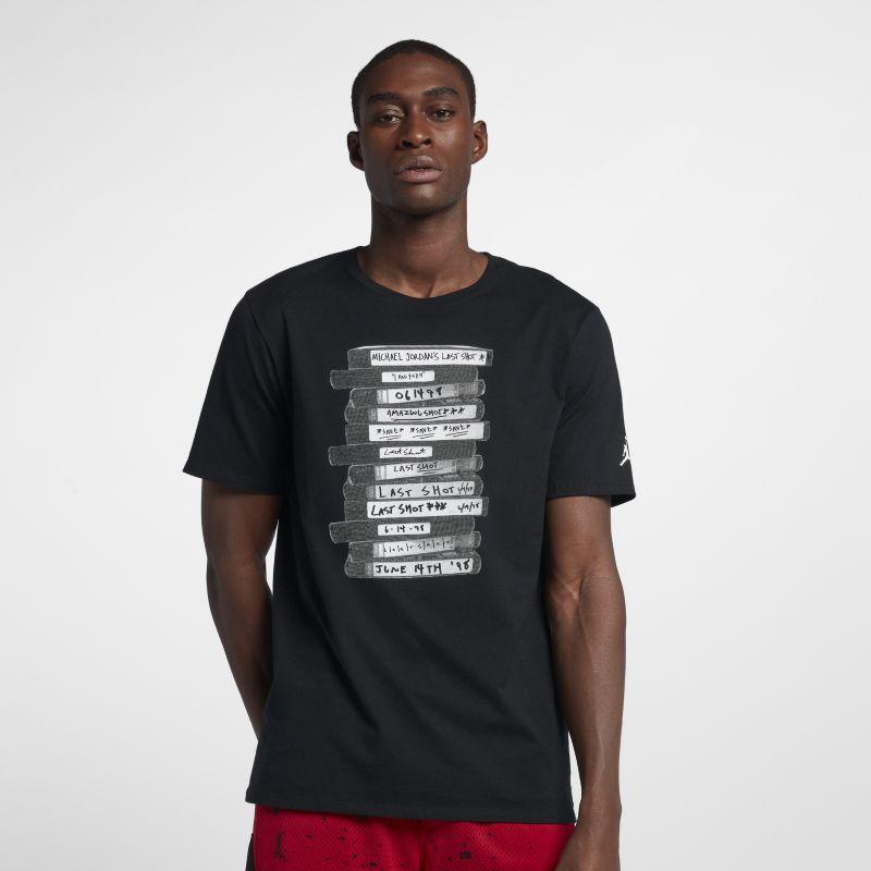 Nike Jordan Lifestyle Last Shot Men's T-Shirt - Black Image