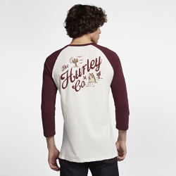 Мужская футболка с рукавом 3/4 Hurley Cacti RaglanМужская футболка с рукавом 3/4 Hurley Cacti Raglan — мягкая и комфортная модель для городской жизни.<br>