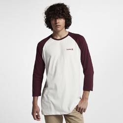 Мужская футболка с рукавом 3/4 Hurley One And Only RaglanМужская футболка с рукавом 3/4 Hurley One And Only Raglan — базовая модель на каждый день.<br>
