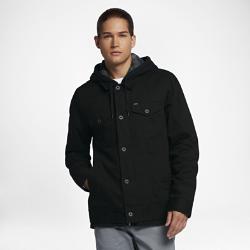 Мужская куртка Hurley Mac Trucker 3.0Мужская куртка Hurley Mac Trucker 3.0 стала еще более комфортной благодаря капюшону с подкладкой из синтетического меха Sherpa и манжетам из рубчатой ткани. Теплая фланелевая ткань с изнаночной стороны и внешний слой из прочной хлопковой ткани делают эту куртку идеальным дополнением к зимнему гардеробу.<br>