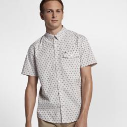 Мужская рубашка с коротким рукавом Hurley BrooksУдобная мужская рубашка с коротким рукавом Hurley Brooks из мягкого хлопка идеально подходит как для работы, так и для особых случаев.<br>