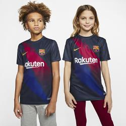 <ナイキ(NIKE)公式ストア>FC バルセロナ ジュニア ショートスリーブ サッカートップ AO7757-452 ブルー ★30日間返品無料 / Nike+メンバー送料無料!画像