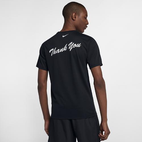 <ナイキ(NIKE)公式ストア>ナイキ Dri-FIT メンズ プリンテッド ランニング Tシャツ AO8539-010 ブラック
