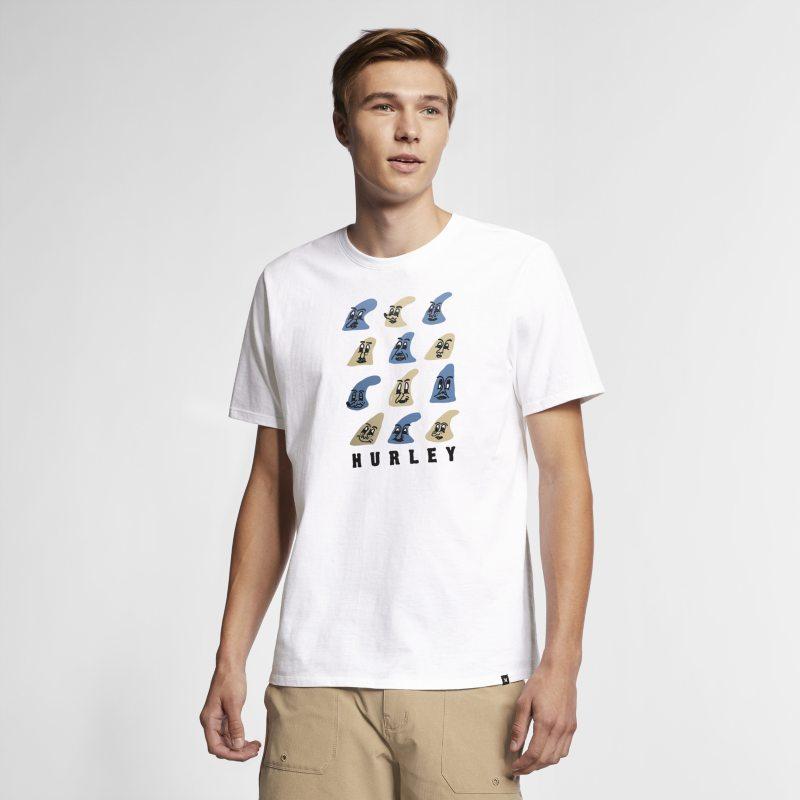 Hurley Fin Face Erkek Tişörtü  AO8790-100 -  Beyaz S Beden Ürün Resmi