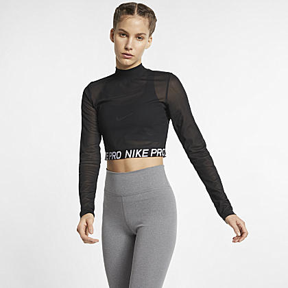 7a6d3ee5a9793 Nike Pro Women s Short-Sleeve Crop Top. Nike.com