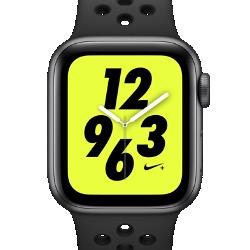 <ナイキ(NIKE)公式ストア>アップル ウォッチ ナイキ+ シリーズ 4 (GPS + Cellular) とナイキ スポーツバンド 40mm スポーツウォッチ AP0315-001 ブラック★11/23から29日の7日間限定、ブラックフライデー キャンペーン中!画像