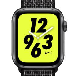 <ナイキ(NIKE)公式ストア>アップル ウォッチ ナイキ+ シリーズ 4 (GPS + Cellular) とナイキ スポーツループ 44mm スポーツウォッチ AP0318-001 グレー★11/23から29日の7日間限定、ブラックフライデー キャンペーン中!画像