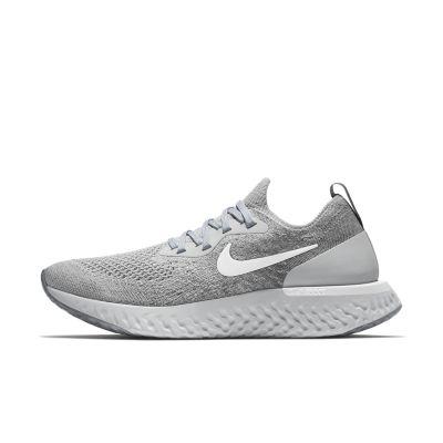 Nike Epic React Flyknit Hardloopschoen voor dames - Grijs