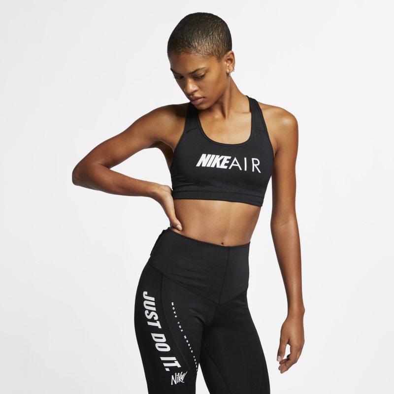 Nike Swoosh Sujetador deportivo de sujeción media con estampado - Mujer - Negro