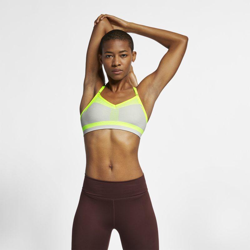 Nike Flyknit Indy Tech Pack Sujetador deportivo de sujeción media - Mujer - Gris