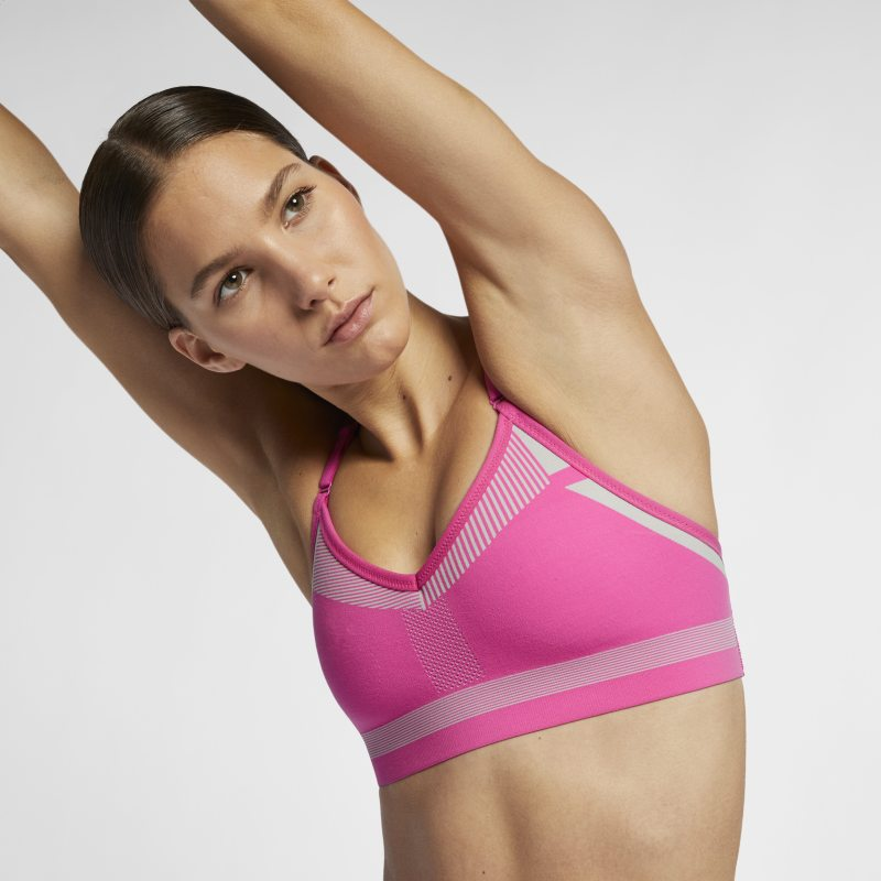 Nike Flyknit Indy Tech Pack Sujetador deportivo de sujeción media - Mujer - Rosa
