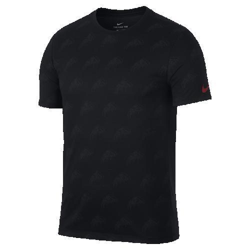 <ナイキ(NIKE)公式ストア>ナイキ Dri-FIT メンズ プリンテッド ランニング Tシャツ AQ0342-010 ブラック