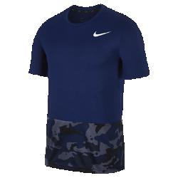 <ナイキ(NIKE)公式ストア>ナイキ ブリーズ メンズ ショートスリーブ カモ トレーニングトップ AQ1092-478 ブルー画像