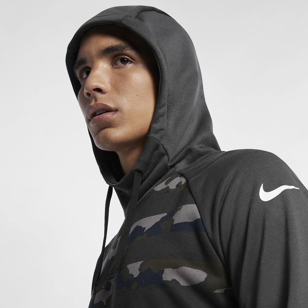 <ナイキ(NIKE)公式ストア> ナイキ Dri-FIT メンズ カモ トレーニングパーカー AQ1141-060 ブラック ★30日間返品無料 / Nike+メンバー送料無料