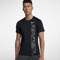<ナイキ(NIKE)公式ストア> ナイキ プロ メンズ ショートスリーブ カモ トレーニングトップ AQ1195-010 ブラック ★30日間返品無料 / Nike+メンバー送料無料画像