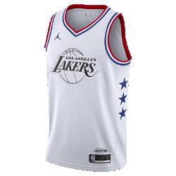 <ナイキ(NIKE)公式ストア>レブロン ジェームズ オールスター エディション スウィングマン メンズ ジョーダン NBA コネクテッド ジャージー AQ7297-106 ホワイト画像