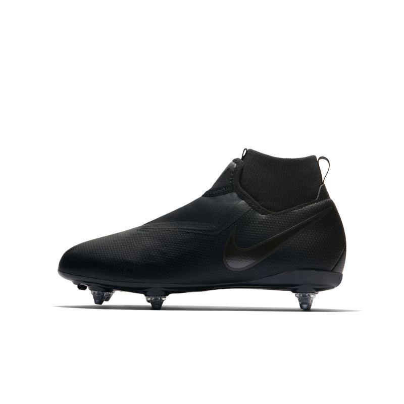Nike Jr. Phantom Vision Academy Dynamic Fit Younger/Older Kids'Soft-Ground Football Boot - Black Thumbnail Image
