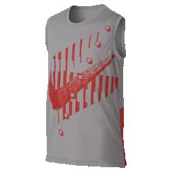 <ナイキ(NIKE)公式ストア>ナイキ Dri-FIT ジュニア (ボーイズ) グラフィック トレーニング スリーブレス トップ AQ9556-059 グレー ★30日間返品無料 / Nike+メンバー送料無料!画像