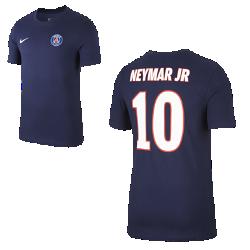 Мужская футболка Paris Saint-Germain Neymar HomeМужская футболка Paris Saint-Germain Neymar Home из чистого хлопка с фирменными элементами обеспечивает комфорт на весь день.<br>