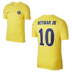 Мужская футболка Paris Saint-Germain Neymar AwayМужская футболка Paris Saint-Germain Neymar Away из чистого хлопка с фирменными элементами обеспечивает комфорт на весь день.<br>