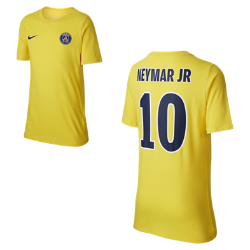 Футболка для мальчиков школьного возраста Paris Saint-Germain Neymar AwayФутболка для мальчиков школьного возраста Paris Saint-Germain Neymar Away из чистого хлопка с фирменными элементами обеспечивает комфорт на весь день.<br>