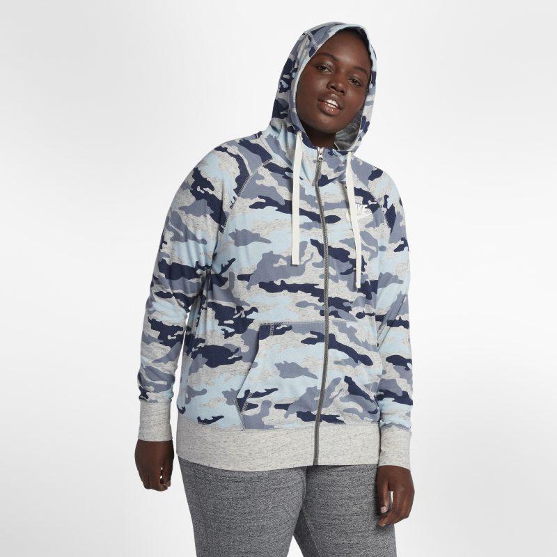 Nike Büyük BedenAR1722-491 -Sportswear Gym Vintage Kamuflaj Desenli Kadın Kapüşonlu Üst 3X Beden Ürün Resmi