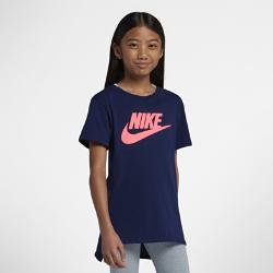 <ナイキ(NIKE)公式ストア>ナイキ スポーツウェア ジュニア (ガールズ) Tシャツ AR1739-478 ブルー