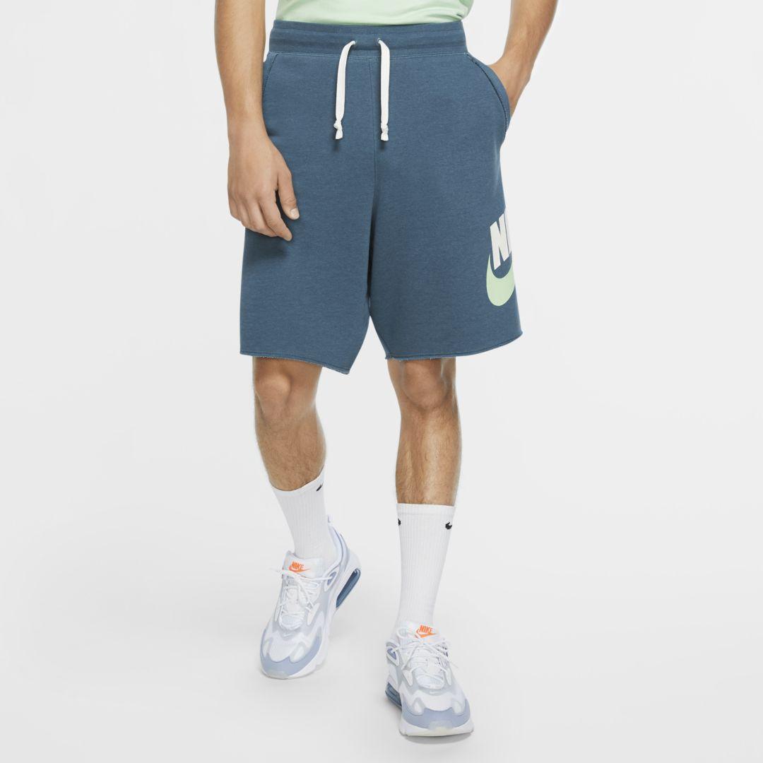 Nike Sportswear Alumni Men's French Terry Shorts (Ash Green ...