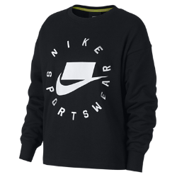 <ナイキ(NIKE)公式ストア>ナイキ スポーツウェア NSW ウィメンズ フレンチ テリー クルー AR3053-010 ブラック ★30日間返品無料 / Nike+メンバー送料無料!画像