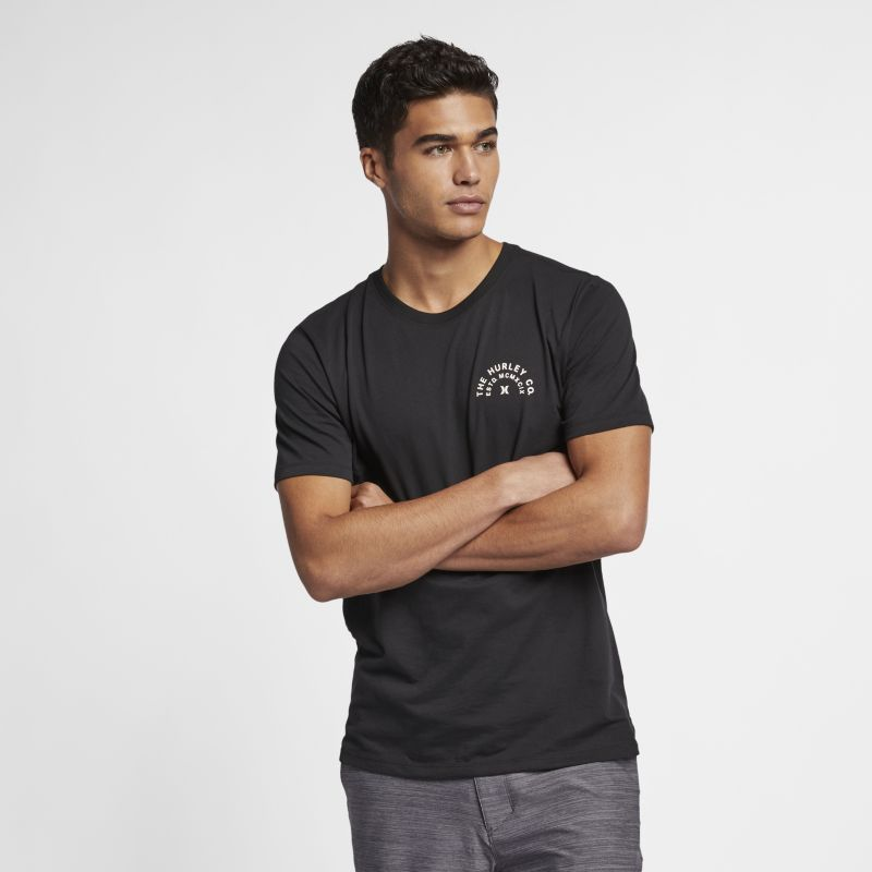 Nike Hurley Dri-FIT Compass Men's T-Shirt - Black Image