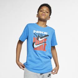 <ナイキ(NIKE)公式ストア>ナイキ スポーツウェア ジュニア (ボーイズ) スウッシュ Tシャツ AR5311-435 ブルー
