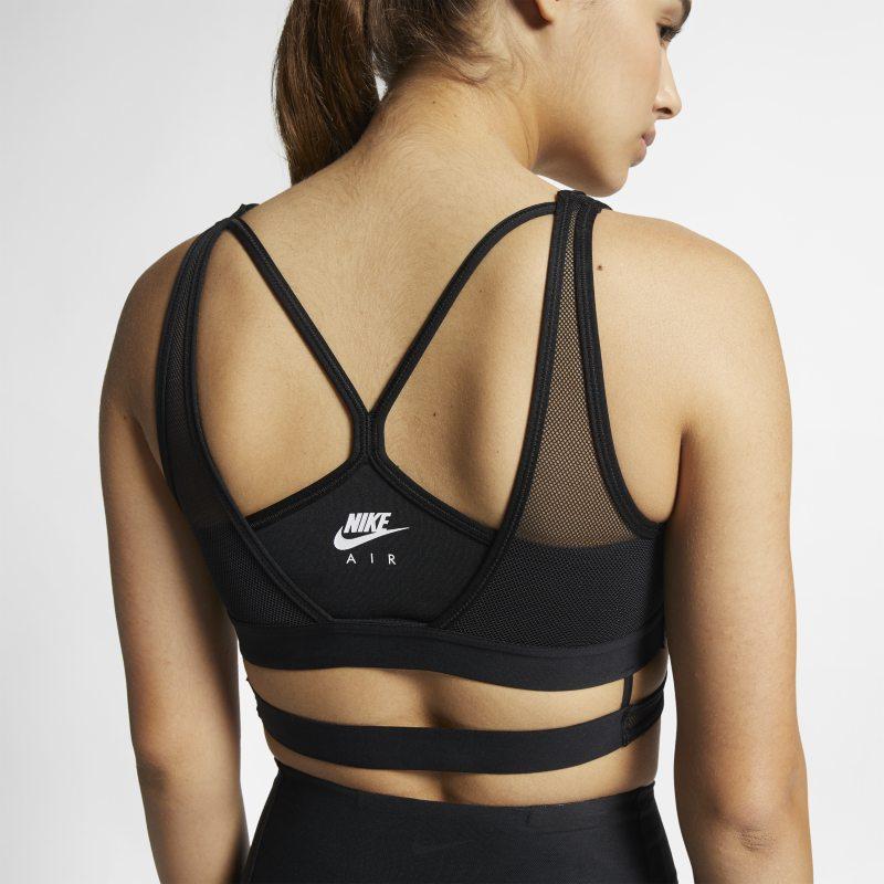 Nike Air Sujetador deportivo de malla de sujeción ligera - Mujer - Negro