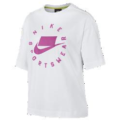 <ナイキ(NIKE)公式ストア>ナイキ スポーツウェア ウィメンズ ショートスリーブ トップ AT0565-100 ホワイト ★30日間返品無料 / Nike+メンバー送料無料!画像
