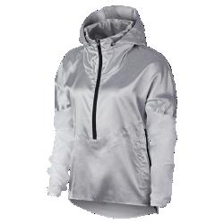 <ナイキ(NIKE)公式ストア>ナイキ ウィメンズ フーデッド ランニングジャケット AT1129-095 グレー画像