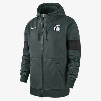 84cbaa9f Nike College Therma (Michigan State). Men's Full-Zip Hoodie