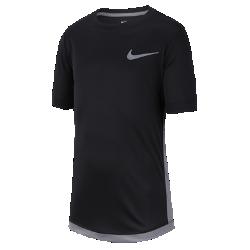 <ナイキ(NIKE)公式ストア>ナイキ Dri-FIT ジュニア (ボーイズ) ショートスリーブ トレーニングトップ AV4896-011 ブラック ★30日間返品無料 / Nike+メンバー送料無料!画像