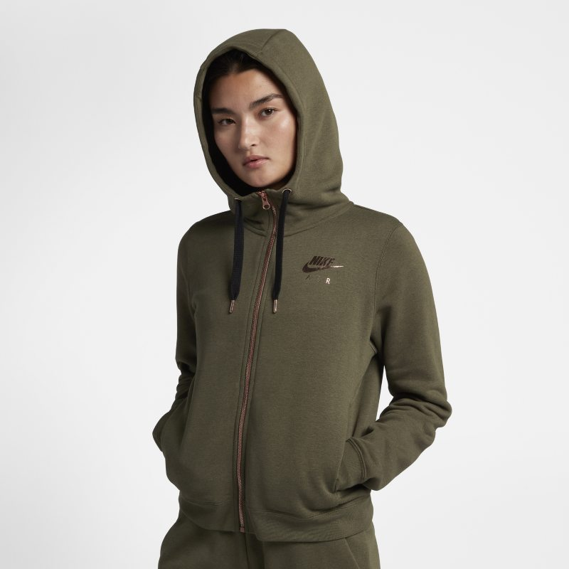 100% authentic best wholesaler affordable price Nike Sportswear Rally Fleece Women's Full-Zip Hoodie - Olive