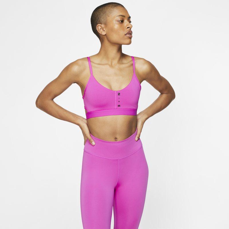 Nike Favorites Sujetador deportivo de sujeción ligera - Mujer - Rojo