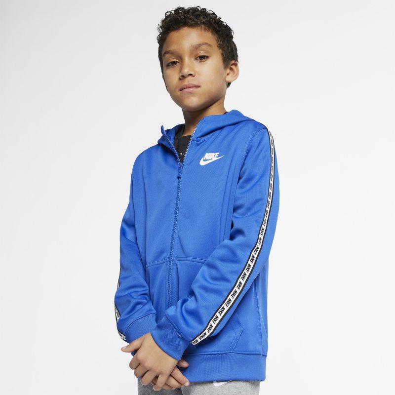 Nike Sportswear Tam Boy Fermuarlı Genç Çocuk Kapüşonlu Üst  AV8387-480 -  Mavi XL Beden Ürün Resmi